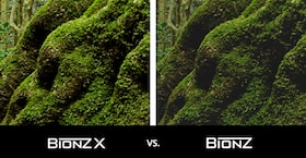 Comparison of new BIONZ X™ processor versus pervious BIONZ processor