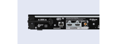 USB, HDMI, optical and analogue outputs
