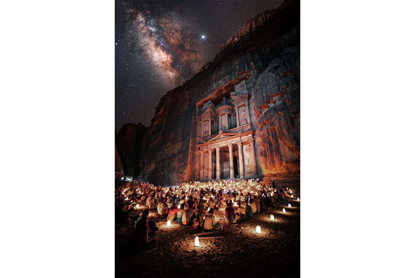 Stefan Liebermann sony alpha 7m3 night vigil at the treasury in Petra