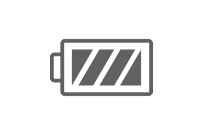 Icon of the full battery symbol.