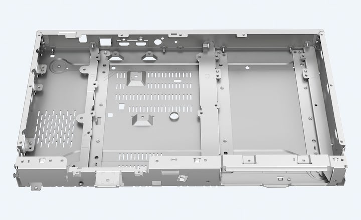 The product's frame-and=beam chassis