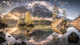 Stefan Liebermann sony alpha 7S a landscape of mountain nature reflects in the clear water