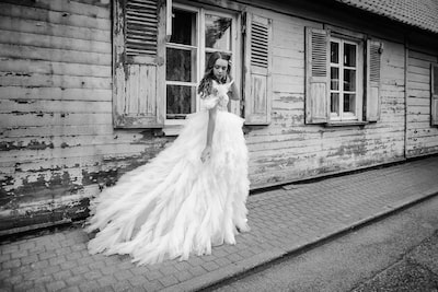 marcis baltskars sony a7rIII bride admiring her dress before ceremony