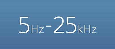 5-25,000Hz frequency range