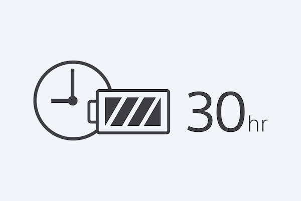 30 hour battery icon