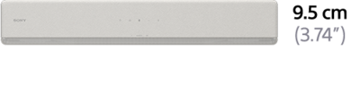 Picture of 2.1ch compact Single Sound bar with Bluetooth® technology | HT-SF200 / HT-SF201