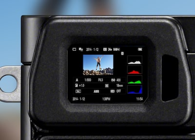 Image of shooting screen display