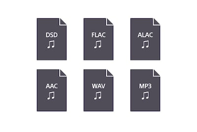 Compatible audio format logos