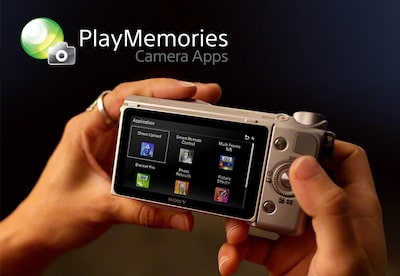 Camera viewfinder showing a selection of apps