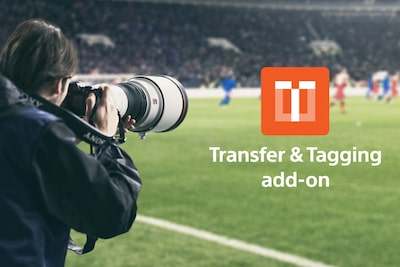 Outdoor shooting with the α1 and Transfer & Tagging add on logo