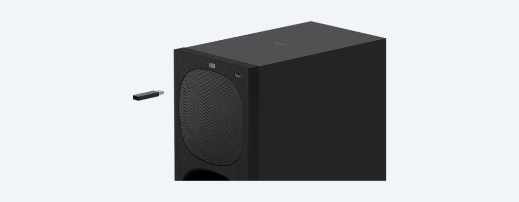 Image of HT-S20R external subwoofer with USB input