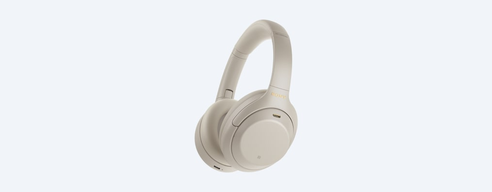 WH-1000XM4 headphones angle white