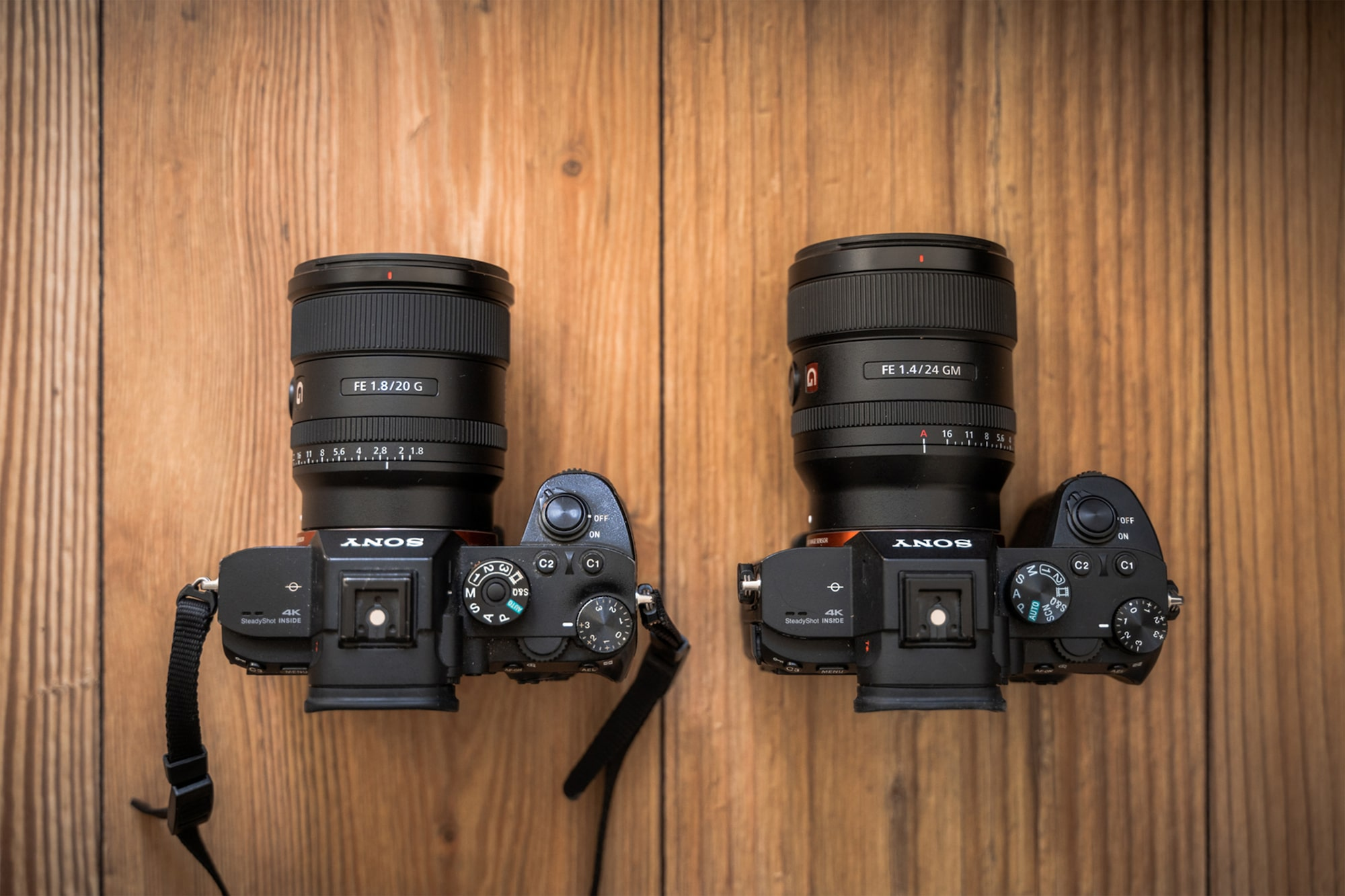 The 20mm f/1.8 G is slightly smaller and lighter than its stablemate 24mm f/1.4 G Master, whilst sharing a similar design.